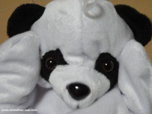 ダイソーのアニマルパペット(パンダ)