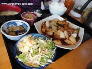 潮から豚ぼ - 酢豚定食