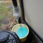 簡易雨水集水器(取水器)を自作してみた、ペットボトルで