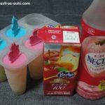 ジュースを凍らせるアイスを作るならネクターピーチや果汁ジュースがおすすめ!