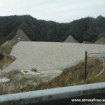 大分川ダム - 大分市下原、野津原辺りに建設中の2018年1月の写真