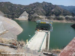 大分川ダム試験湛水1