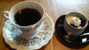 ななせ街道のコーヒーとパンナコッタ