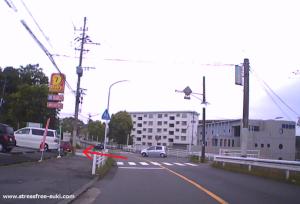 トライアル敷戸店までの道6