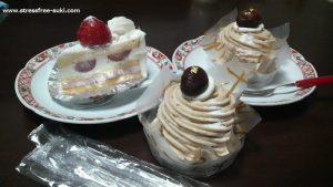 菊家・シャンテドールのショートケーキとモンブラン2