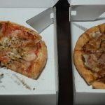 ピザ・ハリウッドパーティ光吉店のもちっこと伊藤ハムのベーコンピザ