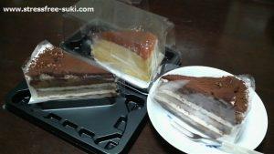ティラミスケーキとチーズケーキ